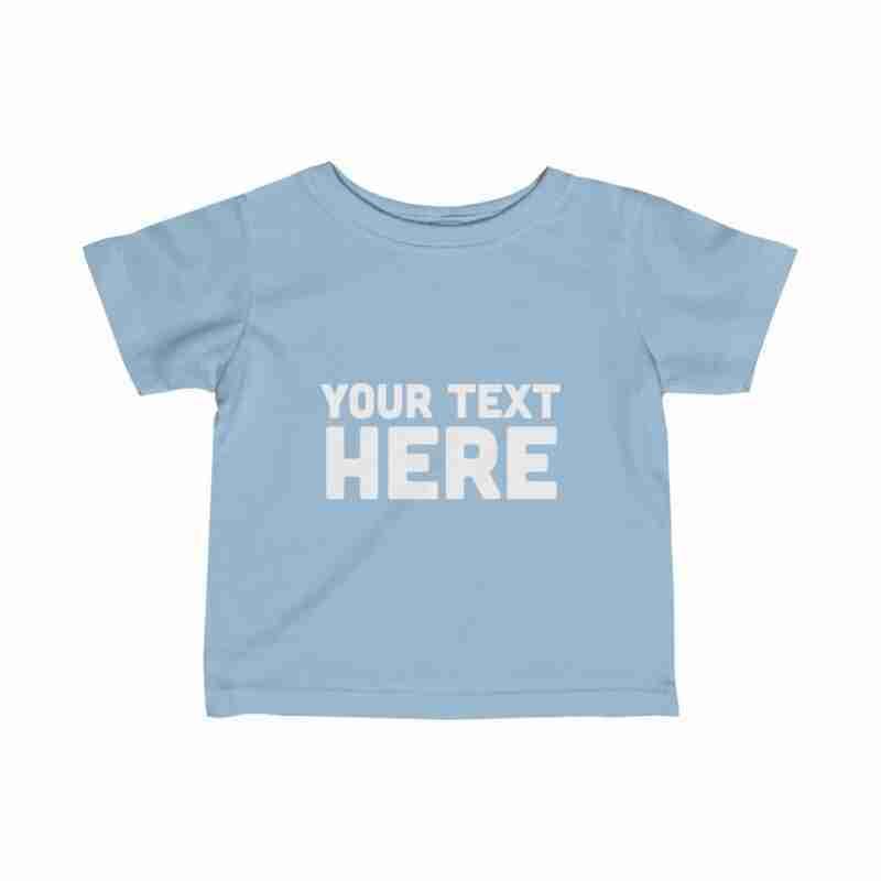 Custom Infant Fine Jersey Tee Personalized