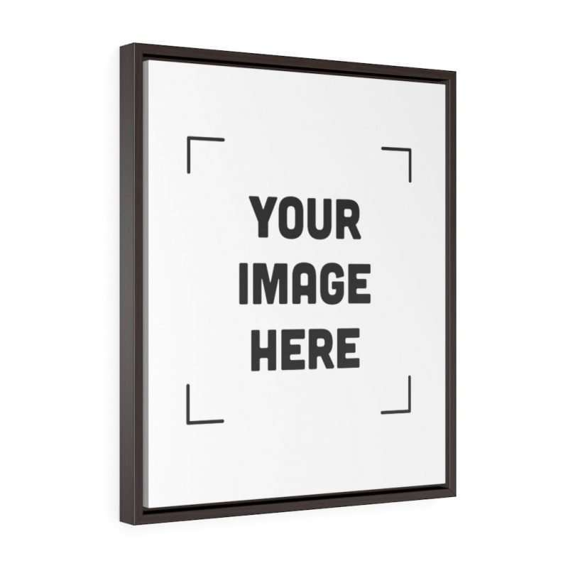 Custom Vertical Framed Premium Gallery Wrap Canvas Personalized