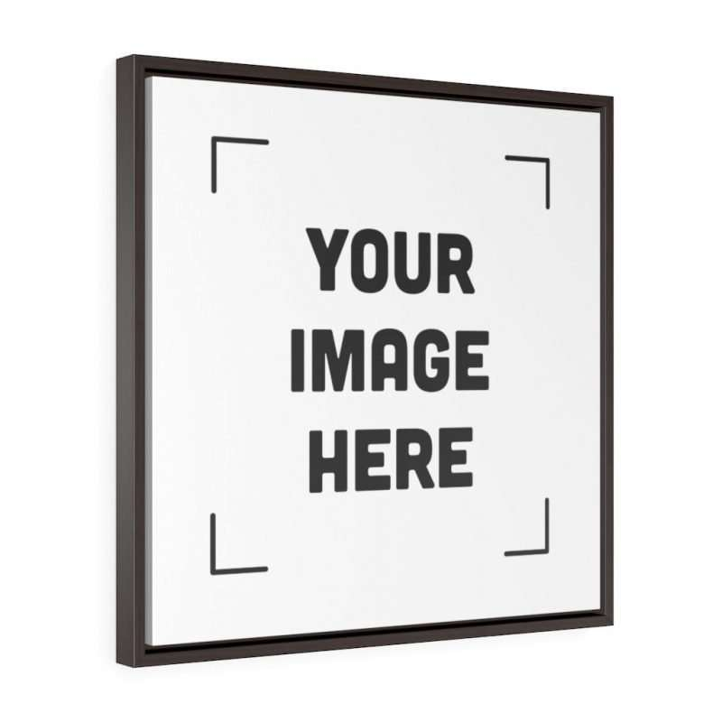 Custom Square Framed Premium Gallery Wrap Canvas Personalized