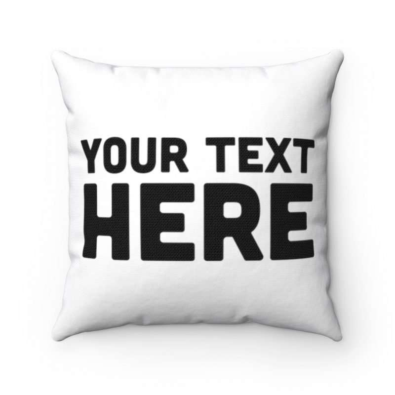 Personalized Spun Polyester Square Pillow Case, Custom Pillow Case