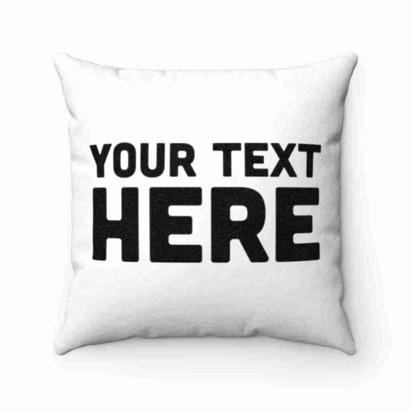 Personalized Faux Suede Square Pillow Case - Custom Pillow Case