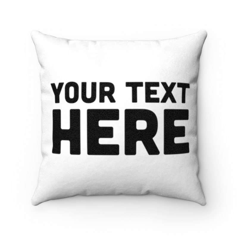 Personalized Faux Suede Square Pillow Custom Pillow