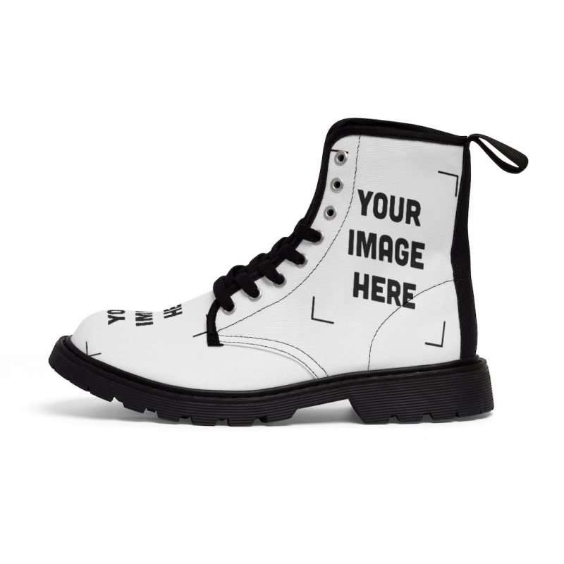 Custom Men's Canvas Boots Personalized