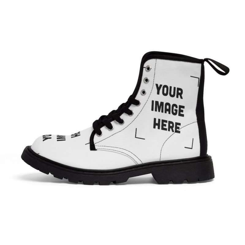 Custom Women's Canvas Boots Personalized