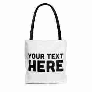 Custom Tote Bag, Personalized AOP Tote Bag