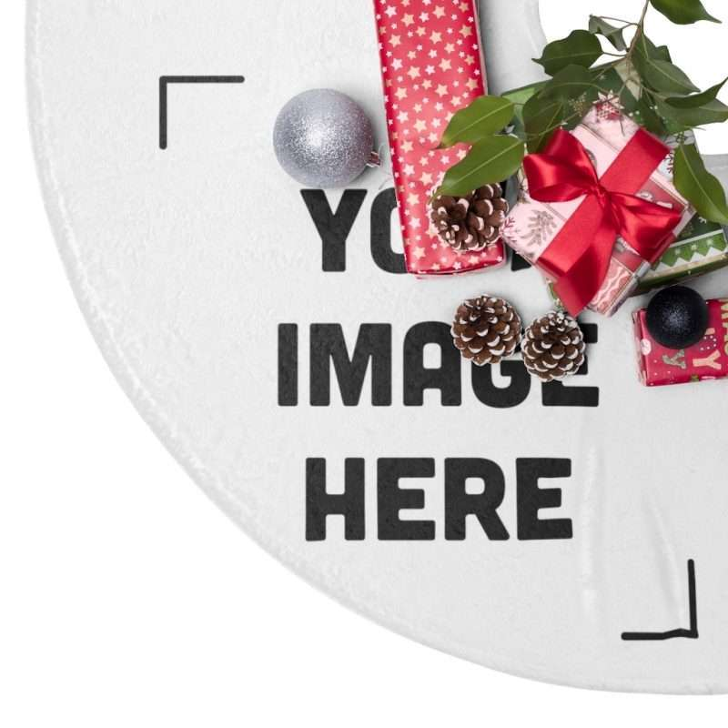 Personalized Christmas Tree Skirts, Customizable with your photos, graphics
