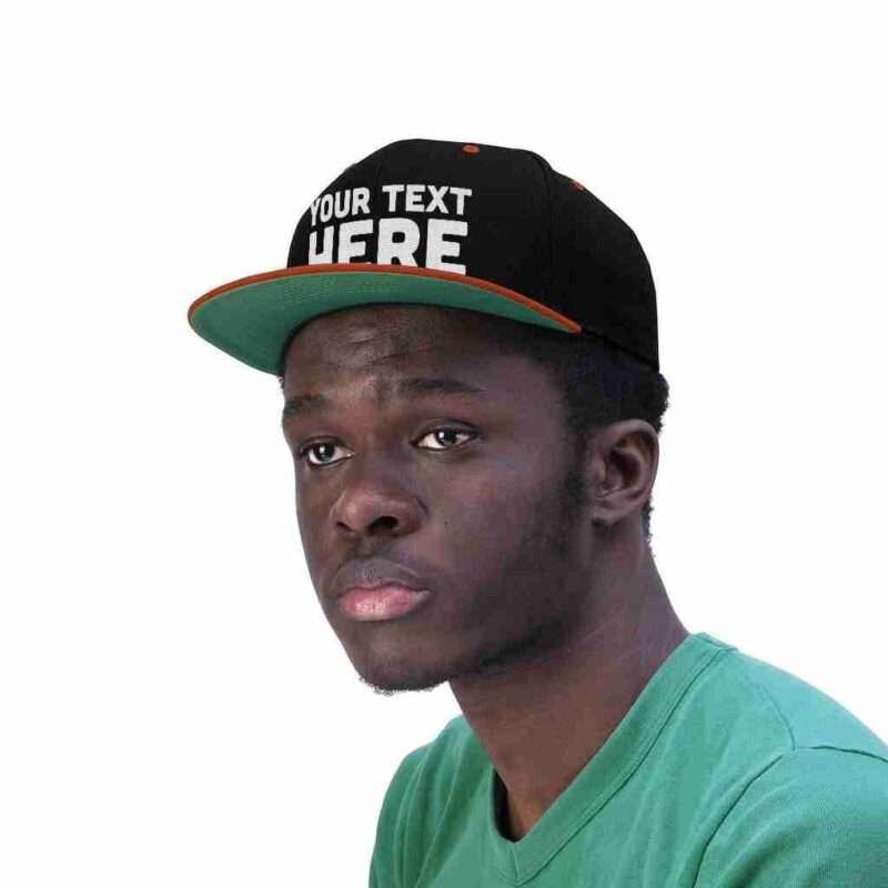 Custom Unisex Flat Bill Hat Personalized Embroidery Flat Bill hat