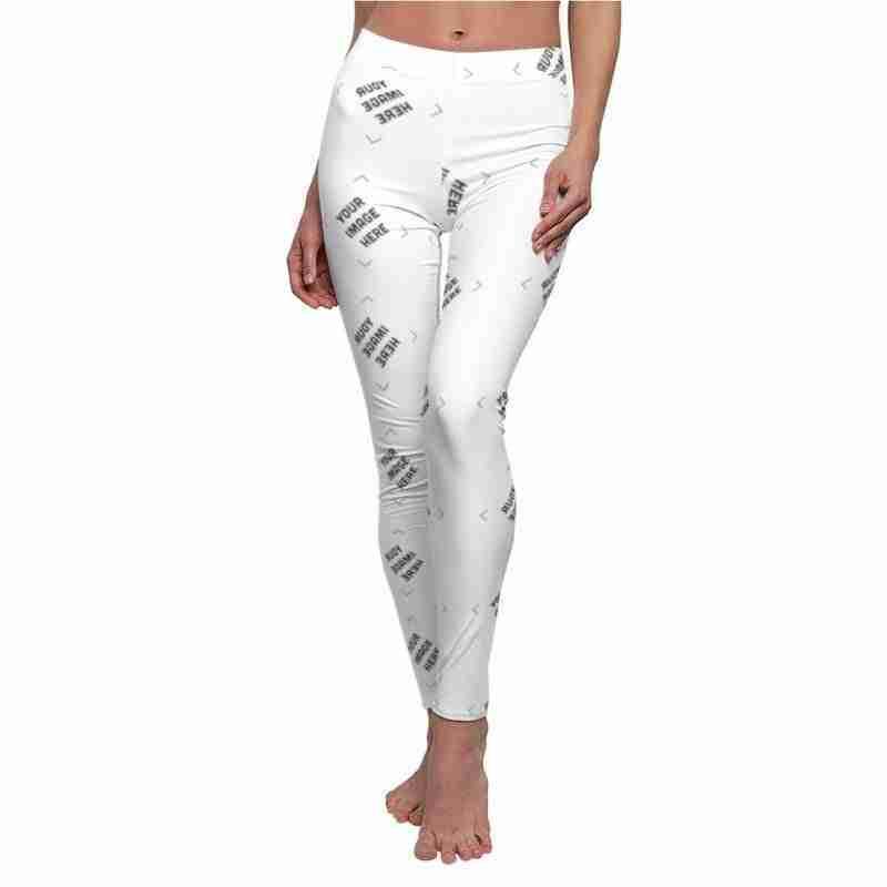 Custom Women's Cut & Sew Casual Leggings Personalized