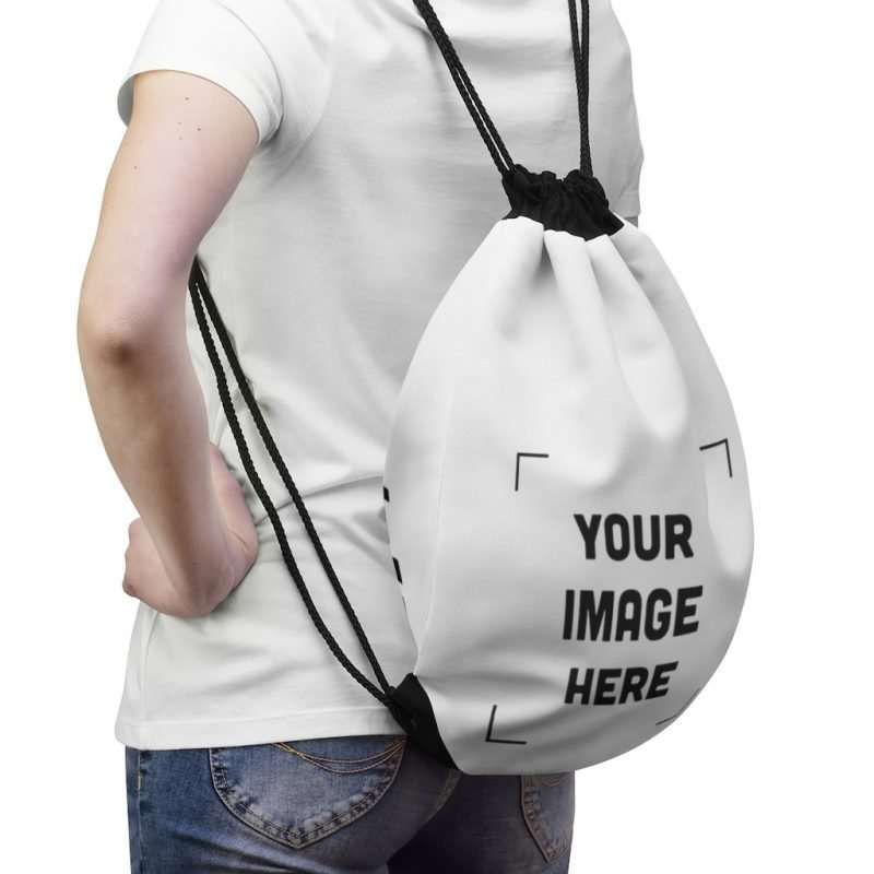 Personalized Drawstring Bag Customizable with your photo images text