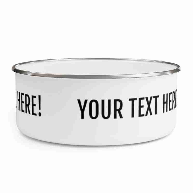Personalized Enamel Bowl Custom Enamel Bowl
