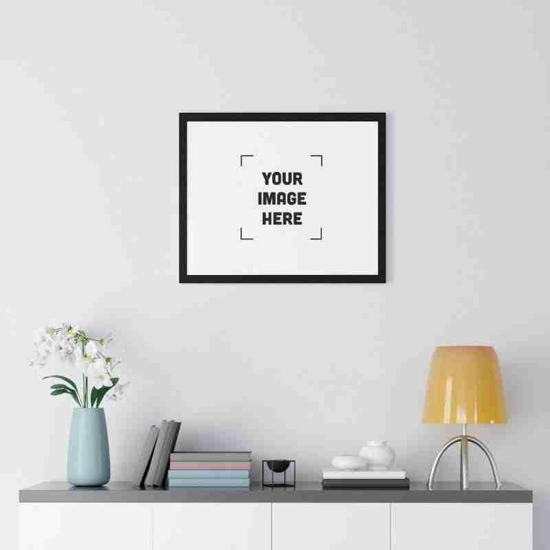 Custom Premium Framed Horizontal Poster Personalized