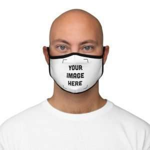 Customizable Fitted Polyester Face Mask Personalized Face Mask