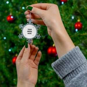Custom Pewter Snowflake Ornament Personalized Ornament