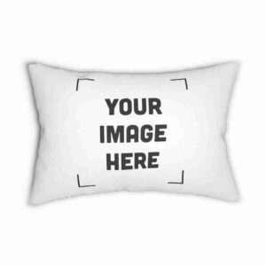 Personalized Spun Polyester Lumbar Pillow | Custom design Pillow