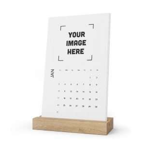 Personalized Desk Calendar Custom Vertical Desk Calendar