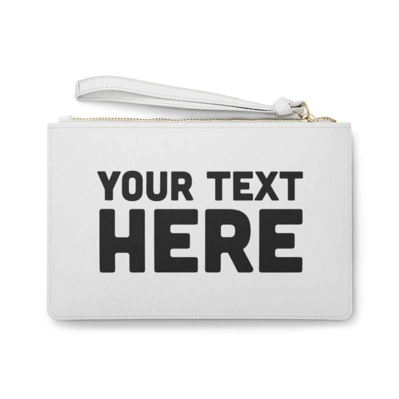 Custom Clutch Bag Personalized with photo text