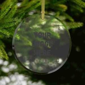 Custom Glass Ornament