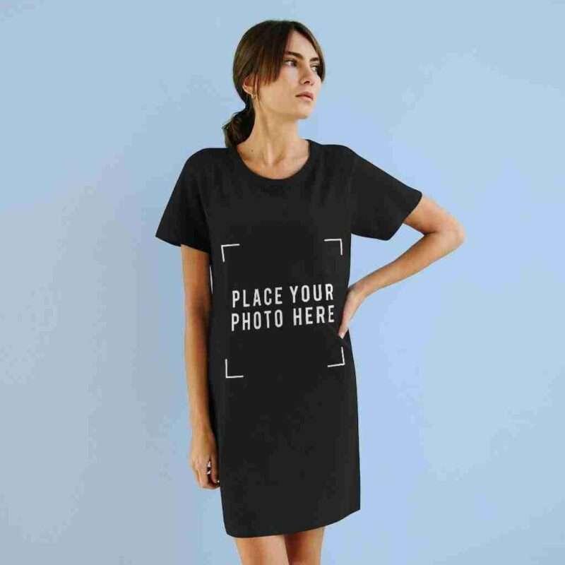 Custom Organic T-Shirt Dress Personalized