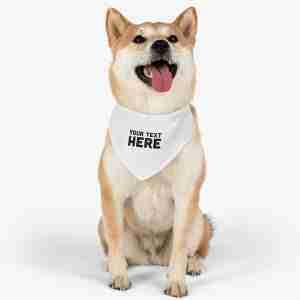 Custom Pet Bandana Collar Personalized Pet Bandana