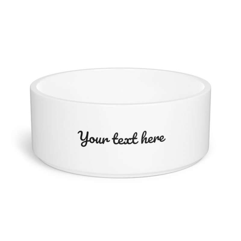 Personalized Pet Bowl Customizable Pet Bowl with text photo name