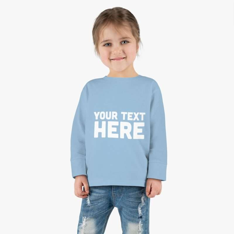 Custom Toddler Long Sleeve Tee Personalized