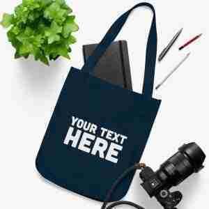 Custom Organic Canvas Tote Bag | Personalized tote bag