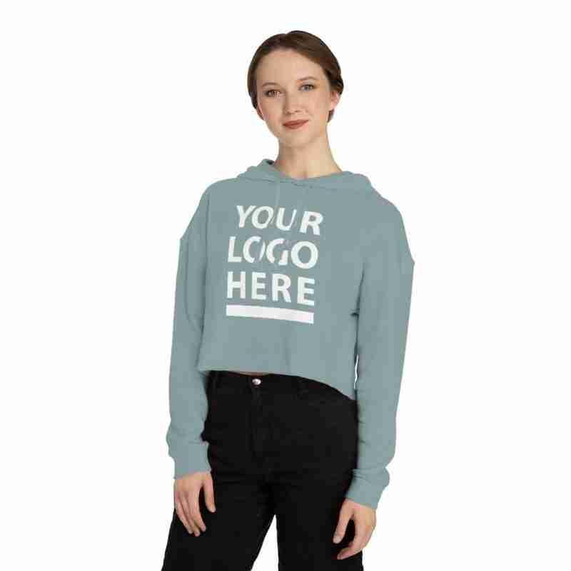 Personalized Women's Cropped Hooded Sweatshirt